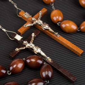 Wall rosary with wood oval beads, 30mm s3