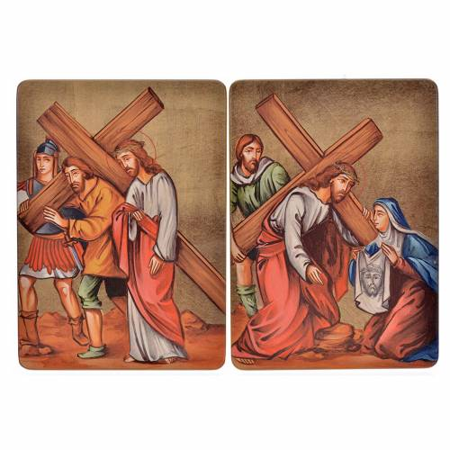 Way of the cross, 15stations in wood s5