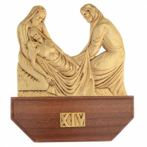 Way of the Cross: Way of the Cross in brass, 24x30 on capital - 15 stations