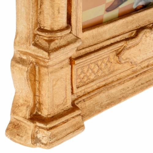 Way of the Cross in wood decorated with columns, 15 stations s7