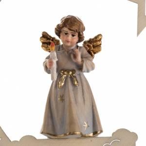 Christbaumschmuck aus Holz und PVC: Weihnachtsschmuck Engel mit Kerze