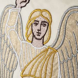 White chasuble with the angel of the resurrection s5