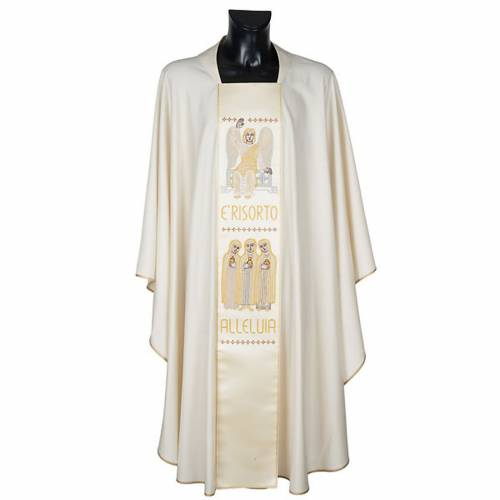 White chasuble with the angel of the resurrection s1