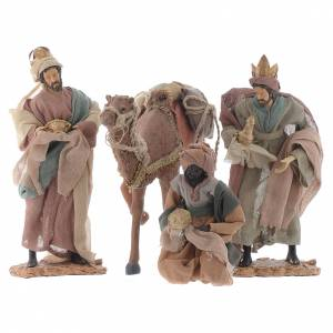 Nativity Scene figurines: Wise Men and camel for 35cm nativities in resin