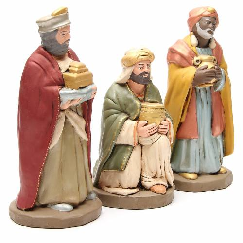 Wise Men golden Terracotta nativity 30cm s3