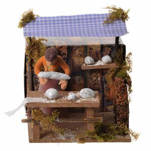 Woman kneading bread, 7cm animated nativity s1
