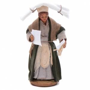 Woman with handkerchiefs, Neapolitan nativity figurine 10cm s1