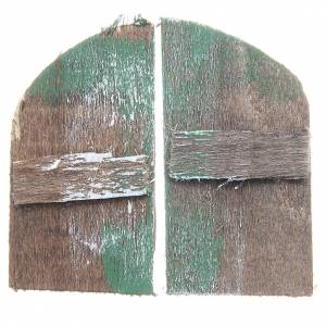 Balustrade, doors, railings: Wooden window for DIY nativities, arch shaped 5,5x3, set of 2