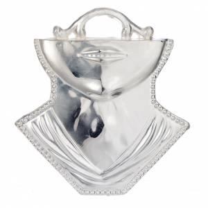 Wota błagalne i dziękczynne: Wotum gardło broda srebro 925 lub metal 11x12 cm