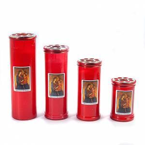 Świece wotywne: Znicz czerwony wizerunek Madonna T30-T40-T50-T60