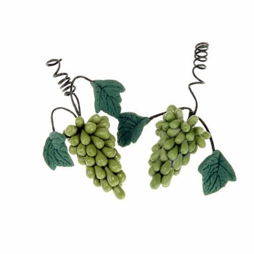 2 Grappes de raisin blanc, bricolage pour crèche s1