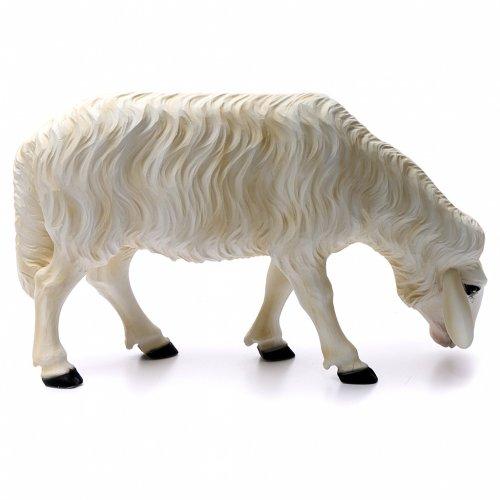 2 ovejas para Belén 80 cm de mármol sintético pintado s3