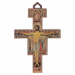 Crucifijos y cruces de madera: Crucifijo San Damián Madera 8 cm