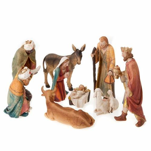 Nativity set scene 21 cm tall crib s1