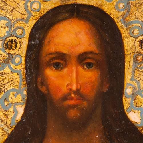 Ancient icon of Christ Pantocrator s2
