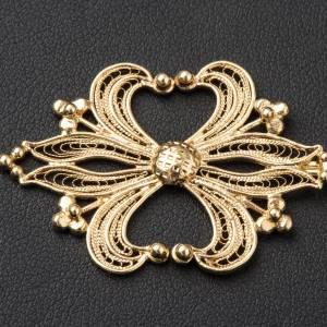 Chapes, Chasubles Romaines, Dalmatiques: Accroches pour chape filigrane d'argent 800 doré