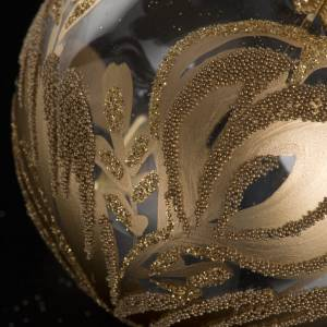Addobbo albero vetro soffiato oro decori 10 cm s2