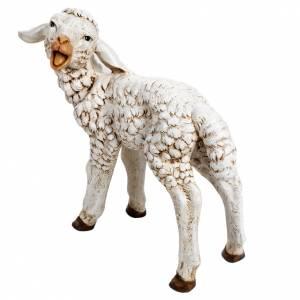 Animali presepe: Agnello 125 cm resina Fontanini