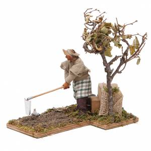 Agriculteur avec arbre 12 cm en mouvement crèche Naples s2