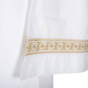 Albs: Alb with embroidered decorations, white cotton