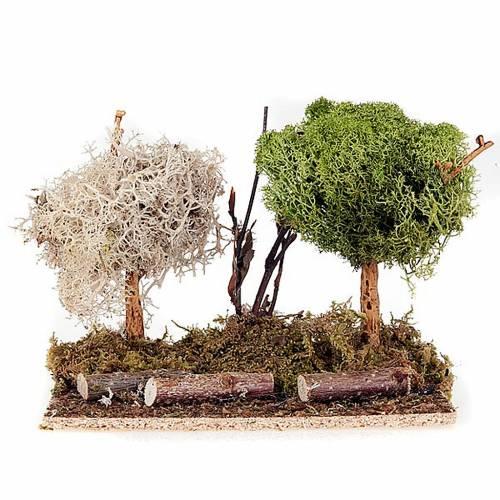 Set alberelli con licheni presepe fai da te s2