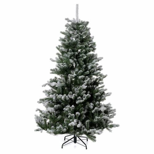 Albero di Natale 180 cm Poly floccato glitter Sheffield 1