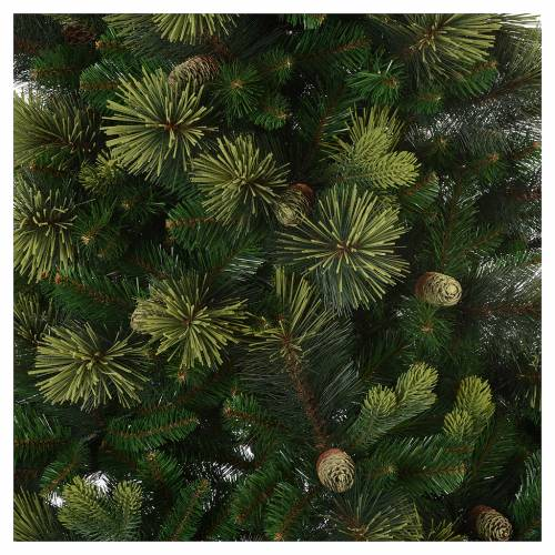 Albero di Natale 180 cm verde con pigne Carolina 2