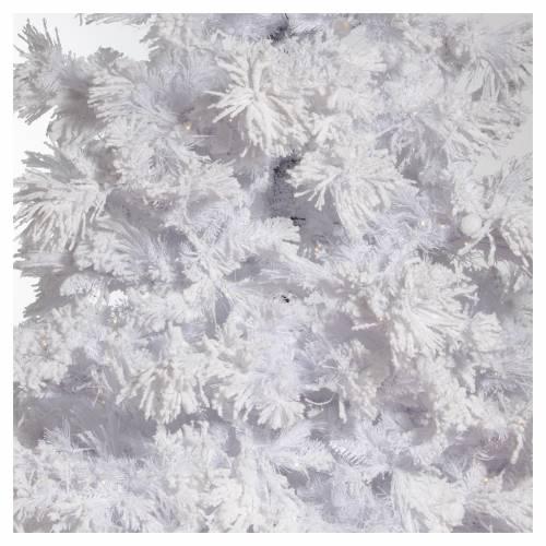 STOCK Albero di Natale bianco innevato 270 cm luci led 700 s2