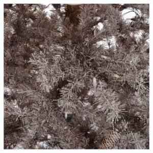 Albero di Natale marrone 230 cm brinato pigne e luci led 400 s4