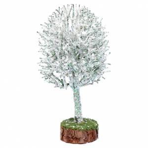 Muschio, licheni, piante, pavimentazioni: Albero innevato h reale 19 cm presepe