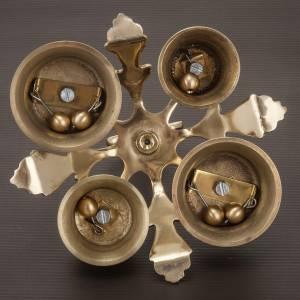 Altar bells: Altar bell four sounds golden-plated decorated