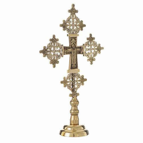 Altar crucifix Christ glorious Bethlehem monks 31x19cm s2