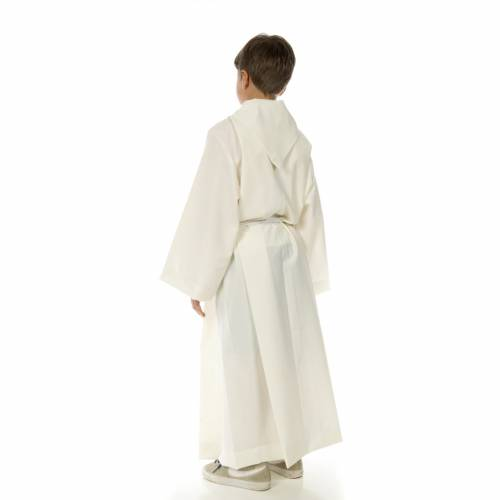 Altar server alb in polyester and wool s4