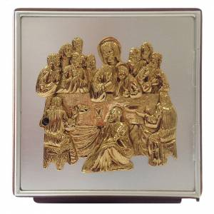 Altar tabernacle Last Supper, wood and brass s1