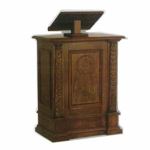 Lecterns: Ambo in solid wood, hand carved 126x85x45cm