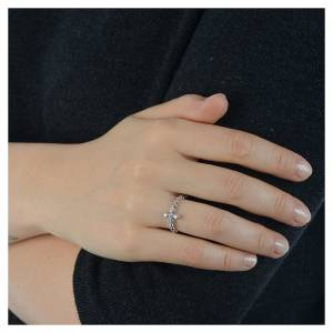 AMEN Beads Ring White silver 925, white zircons s4