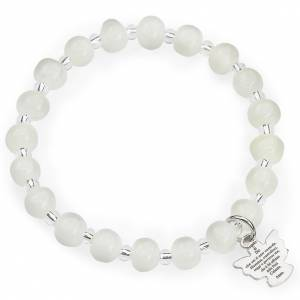 AMEN bracelets: Amen bracelet for children, Murano beads, white sterling silver