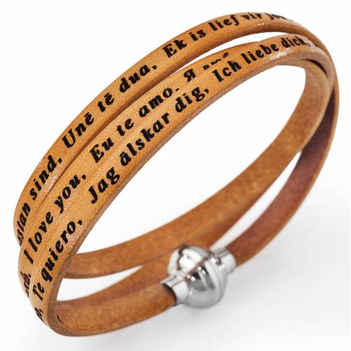Amen bracelet I love you, tan colour s1