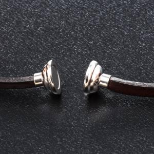 AMEN bracelets: Amen Bracelet in brown leather Our Father GER