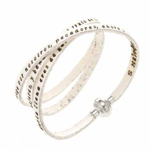Amen Bracelet in white leather Hail Mary SPA s1