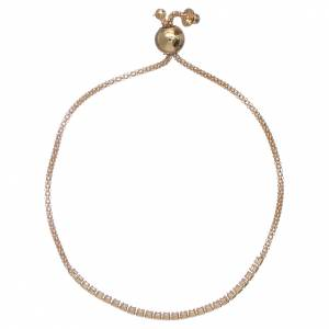 AMEN bracelets: AMEN golden 925 sterling silver bracelet with white zircons