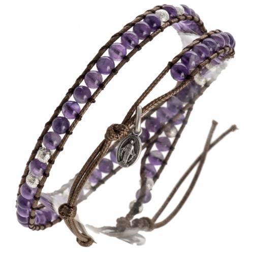 Amethyst bracelet 4mm s1
