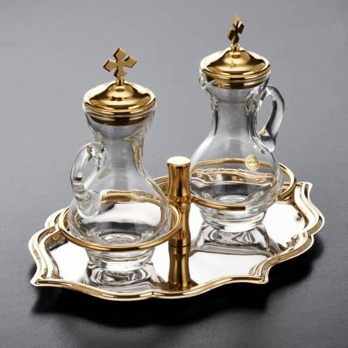 Ampolline vetro piatto dorato nichelato s3