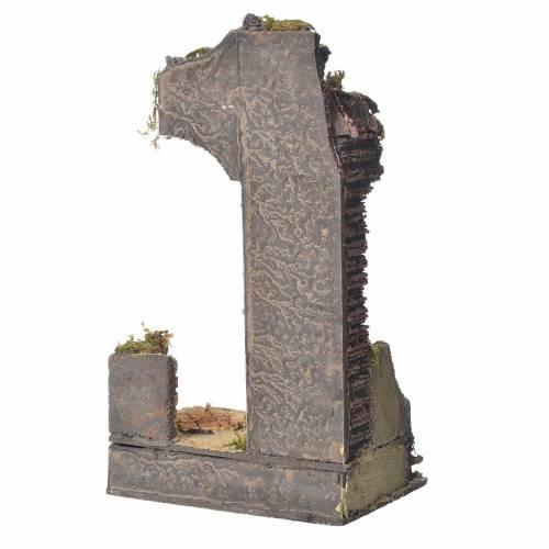 Ancien temple demi-arc pour crèche 30x15x12 cm s3