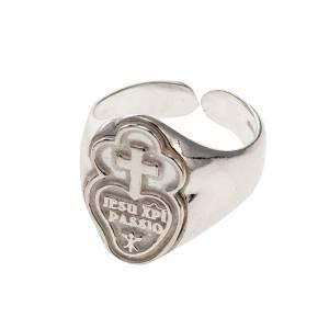 Articoli vescovili: Anello episcopale argento 800 dei Passionisti