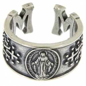 Anello Madonna Miracolosa in argento 925 s2