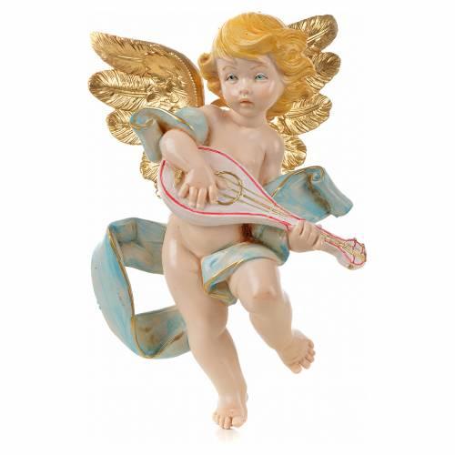 Ange à la mandoline 17 cm Fontanini type porcelaine s1