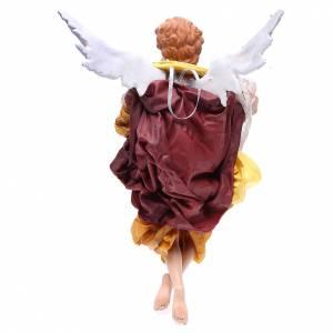 Ange blond 45 cm robe dorée crèche Naples s2