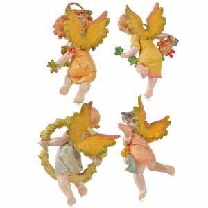 Angeli: Angeli 4 stagioni da appendere Fontanini cm 17