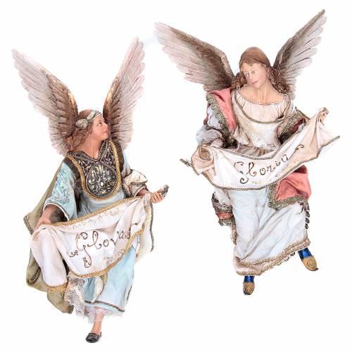 Angeli Gloria che si guardano 30 cm Angela Tripi s1